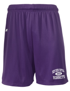 "Deep Creek Central Elementary School Hornets  Russell Men's Mesh Shorts, 7"" Inseam"