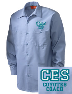 Carroll Elementary School Coyotes Embroidered Men's Industrial Work Shirt - Regular
