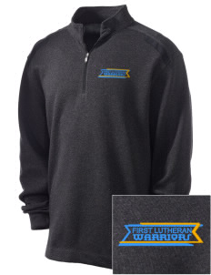 First Lutheran School Warriors Embroidered Nike Men's Golf Heather Cover Up