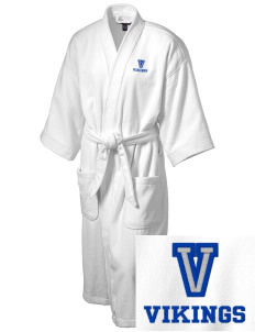 Vineland Elementary School Vikings Embroidered Terry Velour Robe