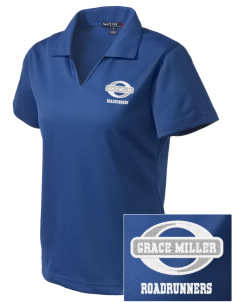 Grace Miller Elementary School Roadrunners Embroidered Women's Dri Mesh Polo