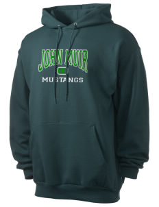 John Muir Middle School Mustangs Men's 7.8 oz Lightweight Hooded Sweatshirt