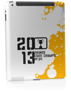Northview High School Vikings Apple iPad 2 Skin