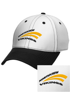 Northview High School Vikings Embroidered New Era Snapback Performance Mesh Contrast Bill Cap