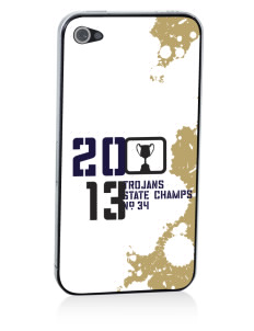 MOUNT UNION AREA jr.sr.HIGHSCHOOL TROJANS Apple iPhone 4/4S Skin