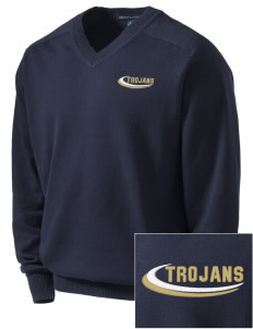 MOUNT UNION AREA jr.sr.HIGHSCHOOL TROJANS Embroidered Men's V-Neck Sweater