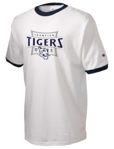 Thompson Elementary School Tigers Champion Men's Ringer T-Shirt