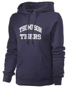 Thompson Elementary School Tigers Russell Women's Pro Cotton Fleece Hooded Sweatshirt