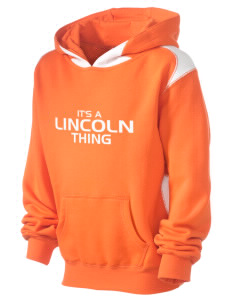 Lincoln Elementary School Lions Kid's Pullover Hooded Sweatshirt with Contrast Color