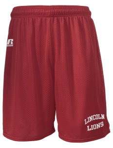 "Lincoln Elementary School Lions  Russell Men's Mesh Shorts, 7"" Inseam"