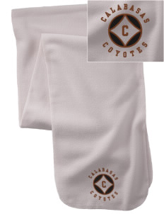 Calabasas High School Coyotes  Embroidered Extra Long Fleece Scarf