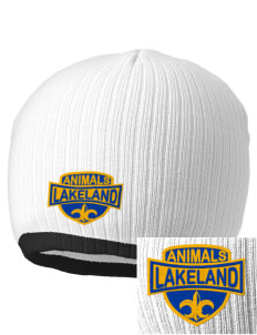 Lakeland Elementary School Animals Embroidered Champion Striped Knit Beanie