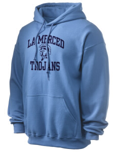 La Merced Intermediate School Trojans Ultra Blend 50/50 Hooded Sweatshirt