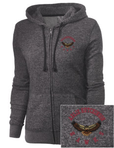 Arlie Hutchinson Middle School Hawks Embroidered Women's Marled Full-Zip Hooded Sweatshirt
