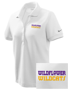 Wildflower Elementary School Wildcats Embroidered Nike Women's Pique Golf Polo