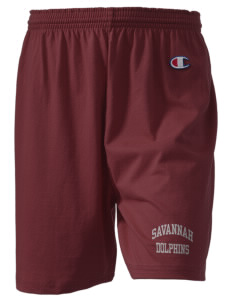 "Savannah Elementary School Dolphins  Champion Women's Gym Shorts, 6"" Inseam"