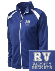 Rancho Vista Elementary School Rockets Embroidered Women's Tricot Track Jacket