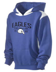 President Elementary School Eagles Kid's Pullover Hooded Sweatshirt with Contrast Color