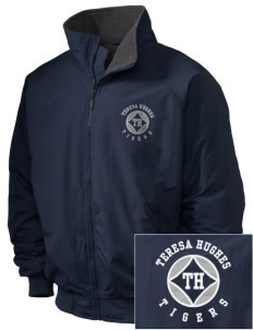 Teresa Hughes Elementary School Tigers Embroidered Holloway Men's Tall Jacket