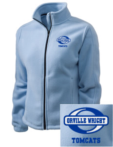 Orville Wright Middle School Tomcats Embroidered Women's Fleece Full-Zip Jacket