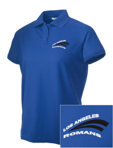 Los Angeles High School Romans Embroidered Women's Technical Performance Polo
