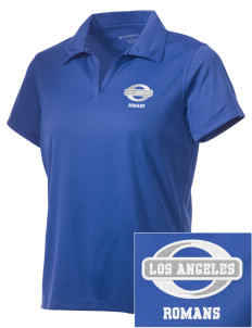 Los Angeles High School Romans Embroidered Women's Double Mesh Polo