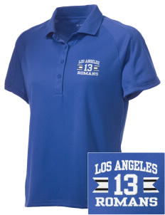 Los Angeles High School Romans Embroidered Women's Polytech Mesh Insert Polo