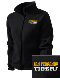 San Fernando High School Tigers Embroidered Women's Fleece Full-Zip Jacket