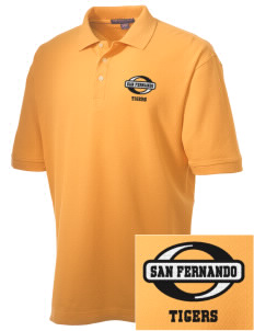 San Fernando High School Tigers Embroidered Men's Performance Plus Pique Polo