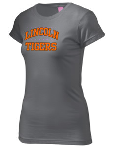 Lincoln High School Tigers  Juniors' Fine Jersey Longer Length T-Shirt