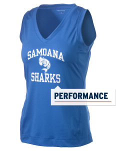 samoana high sharks Women's Performance Fitness Tank