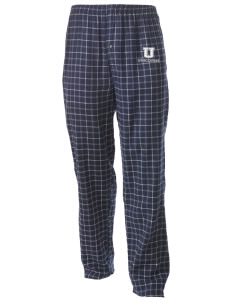 Union Elementary School Unicorns Men's Button-Fly Collegiate Flannel Pant with Distressed Applique