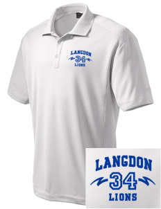 Langdon Elementary School Lions Embroidered Nike Men's Dri-Fit Classic Polo