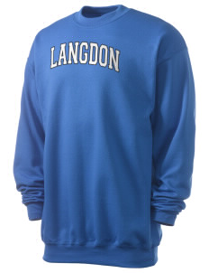 Langdon Elementary School Lions Men's 7.8 oz Lightweight Crewneck Sweatshirt
