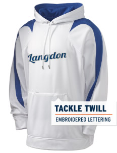 Langdon Elementary School Lions Holloway Men's Sports Fleece Hooded Sweatshirt with Tackle Twill