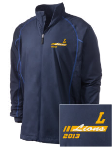 Lemay Elementary School Lions Embroidered Men's Nike Golf Full Zip Wind Jacket
