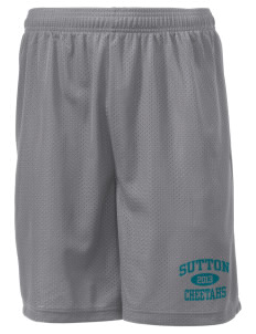 "Sutton Elementary School Cheetahs Men's Mesh Shorts, 7-1/2"" Inseam"