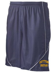 "Sutton Elementary School Cheetahs Men's Pocicharge Mesh Reversible Short, 9"" Inseam"