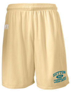 "Sutton Elementary School Cheetahs  Russell Men's Mesh Shorts, 7"" Inseam"