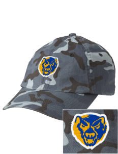 Brookside School Upper Campus Bears Embroidered Camouflage Cotton Cap