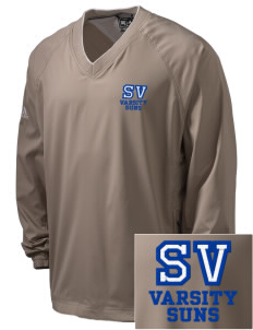 Sun Valley Elementary School Suns Embroidered adidas Men's ClimaProof V-Neck Wind Shirt