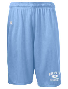 "Noyo High School Mustangs  Russell Deluxe Mesh Shorts, 10"" Inseam"