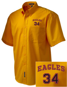 Pinnacles Continuation High School Eagles Embroidered Men's Easy Care Shirt