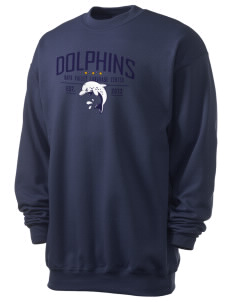 Napa Valley Language Center Dolphins Men's 7.8 oz Lightweight Crewneck Sweatshirt
