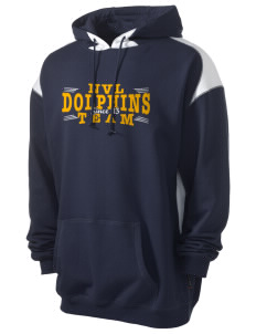 Napa Valley Language Center Dolphins Men's Pullover Hooded Sweatshirt with Contrast Color