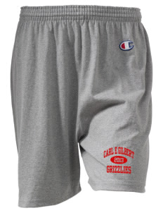 "Carl E Gilbert Elementary School Grizzlies  Champion Women's Gym Shorts, 6"" Inseam"