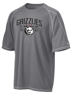 Carl E Gilbert Elementary School Grizzlies Champion Men's 4.1 oz Double Dry Odor Resistance T-Shirt