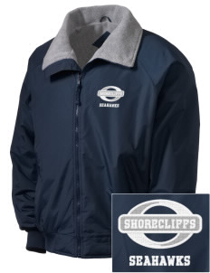 Shorecliffs Middle School Seahawks Embroidered Men's Fleece-Lined Jacket