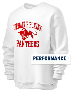 Urbain H Plavan Elementary School Panthers  Russell Men's Dri-Power Crewneck Sweatshirt