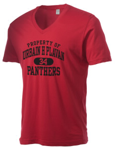 Urbain H Plavan Elementary School Panthers Alternative Men's 3.7 oz Basic V-Neck T-Shirt